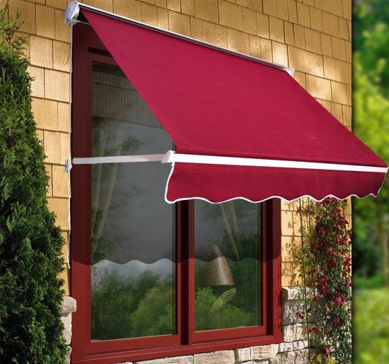 6ft Drop Arm Manual Retractable Door Window Awning Canopy Shelter