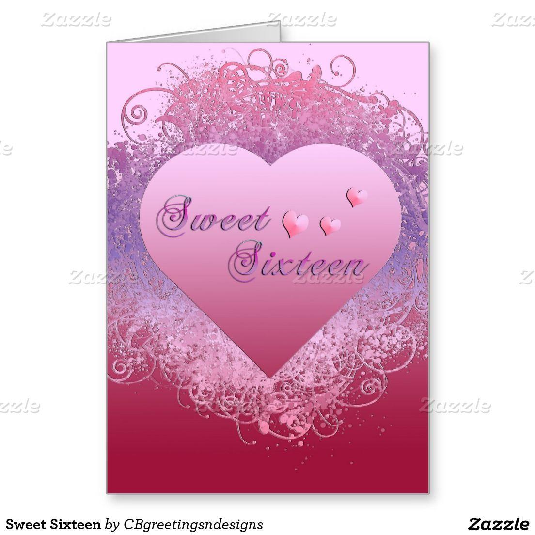 Sweet Sixteen Card Sweet Sixteen