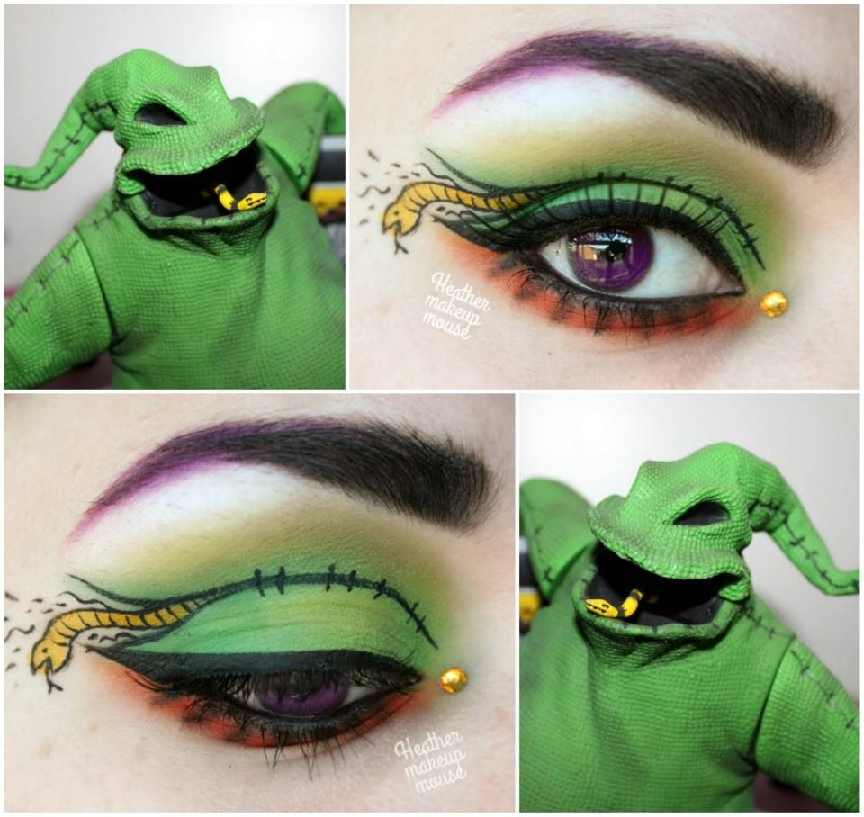 Artistic 'eye art' with a single crystal accent inspired by Oogie ...
