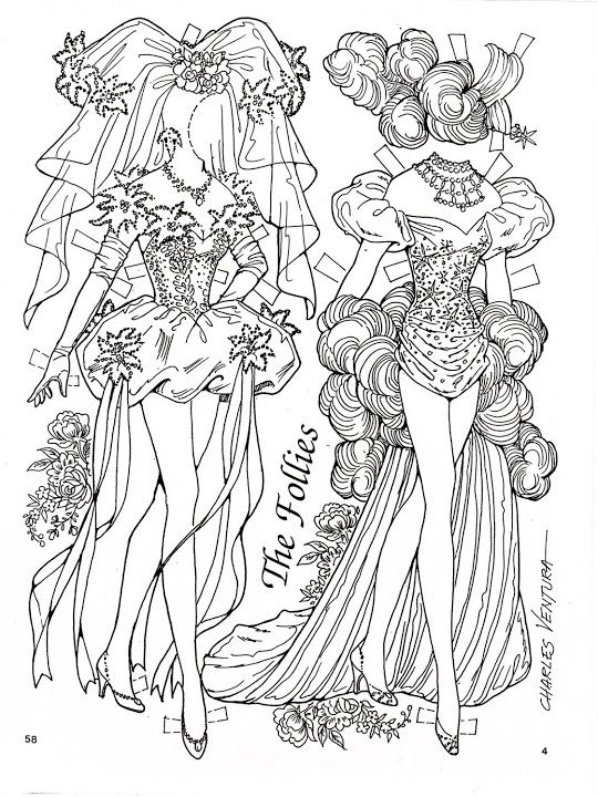 The Follies Paper Doll by charles