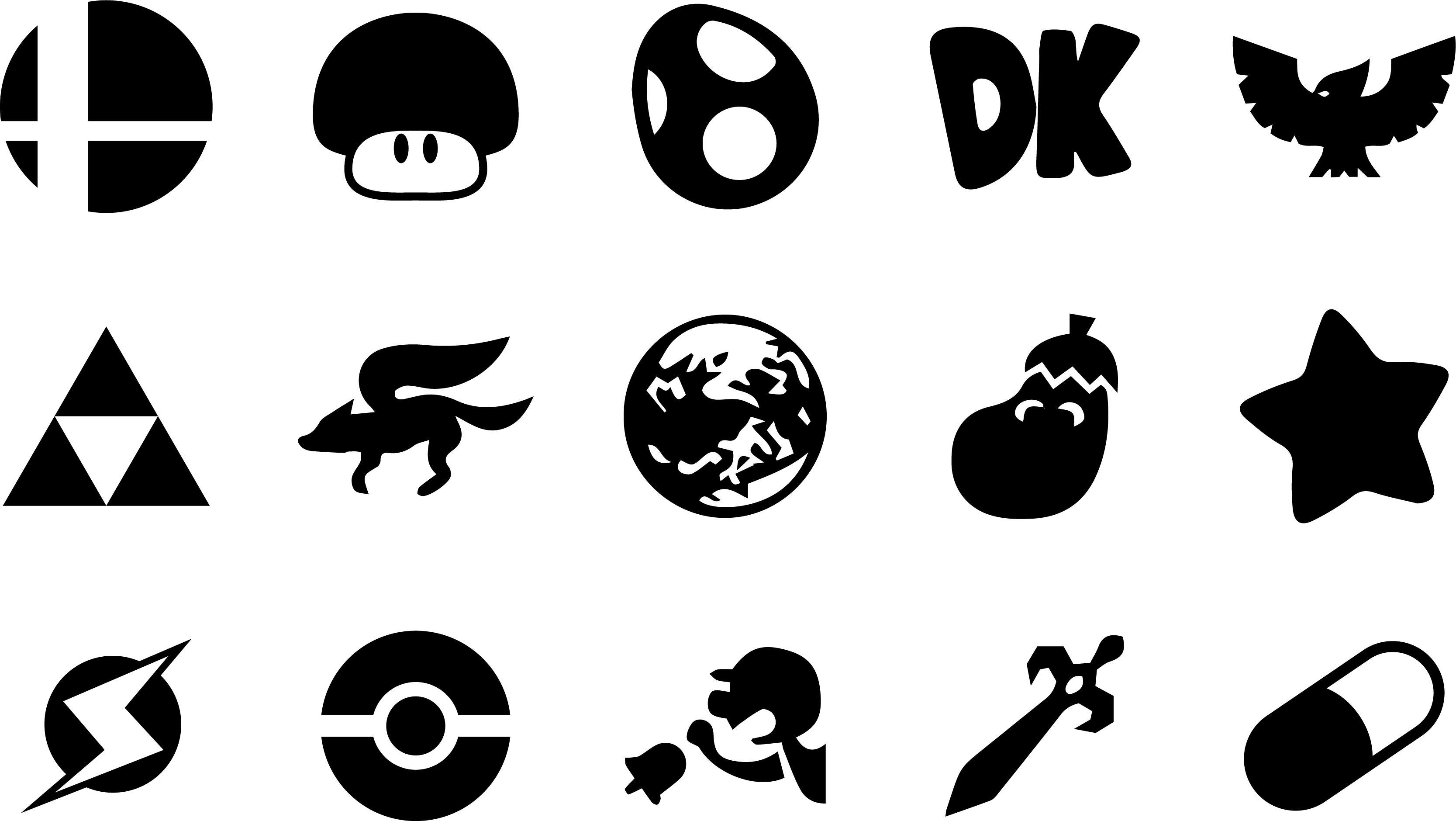 Super Smash Bros Melee Icons by oneseb on DeviantArt