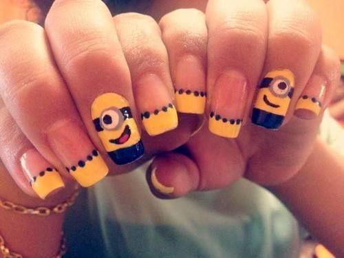 50 Adorable Despicable Me Minion Nail Designs - 50 Adorable Despicable Me Minion Nail Designs Nail Art
