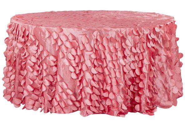 Petal Circle Taffeta Round 120 Tablecloth Coral Round