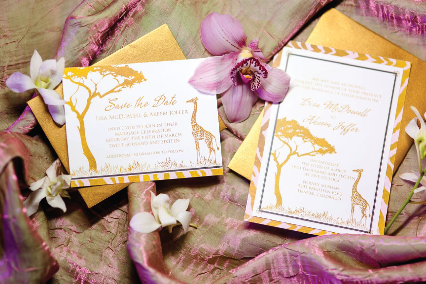 Coming To America Themed Safari Wedding Save The Date And Invitation By Hey Events