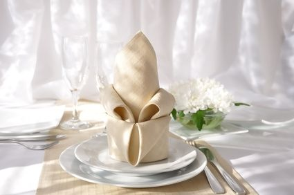 French Lily napkin fold