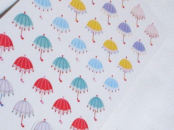 cute rain umbrellas stickers cute rain umbrella decorative