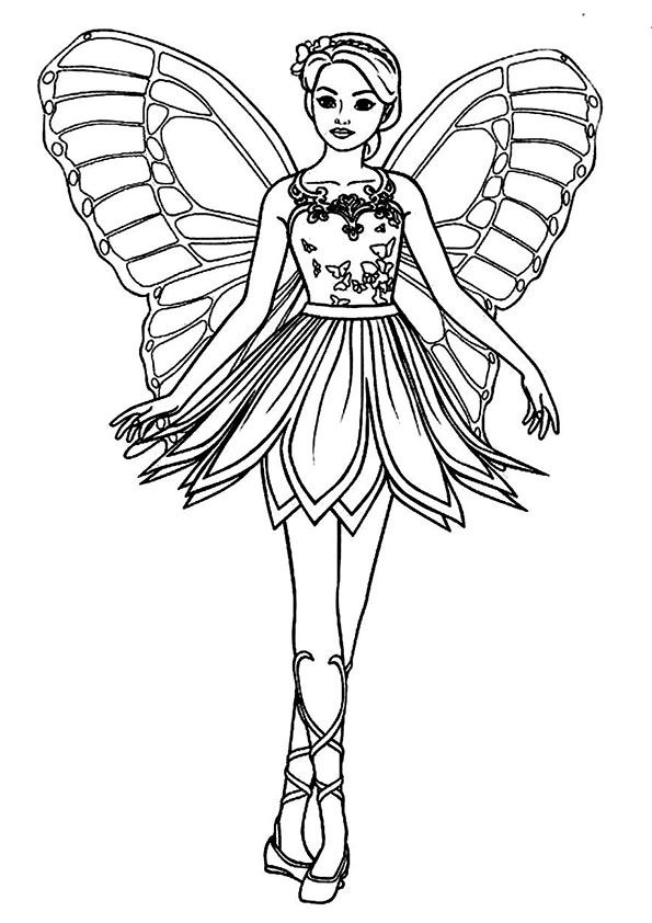 Print Coloring Image Momjunction Fairy Coloring Pages Ballerina Coloring Pages Barbie Coloring Pages