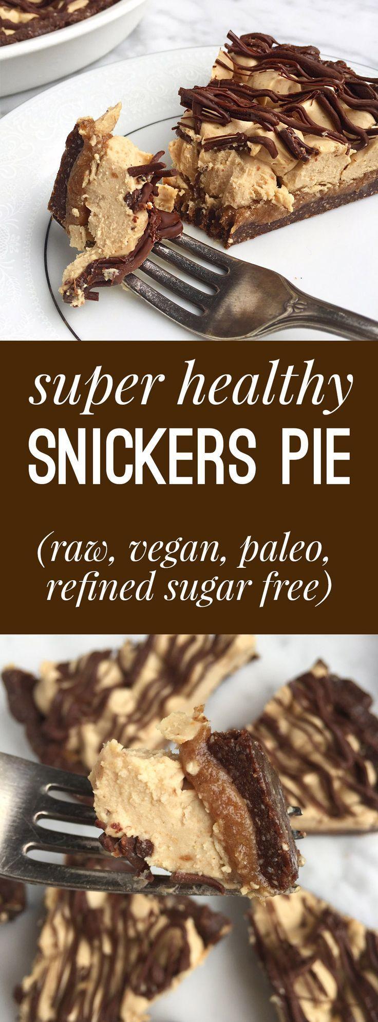 Super Healthy Snickers Pie Gluten Free Paleo Vegan Raw Liz Moody Recipe Raw Desserts Raw Vegan Desserts Healthy Sweets