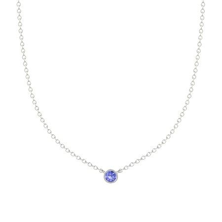Gemstones by the Yard Solitaire Necklace