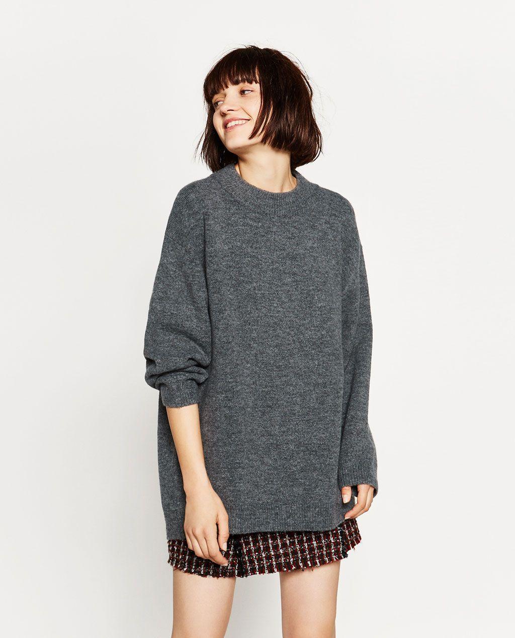 SOFT OVERSIZED SWEATER Sweaters KNITWEAR WOMAN   ZARA United