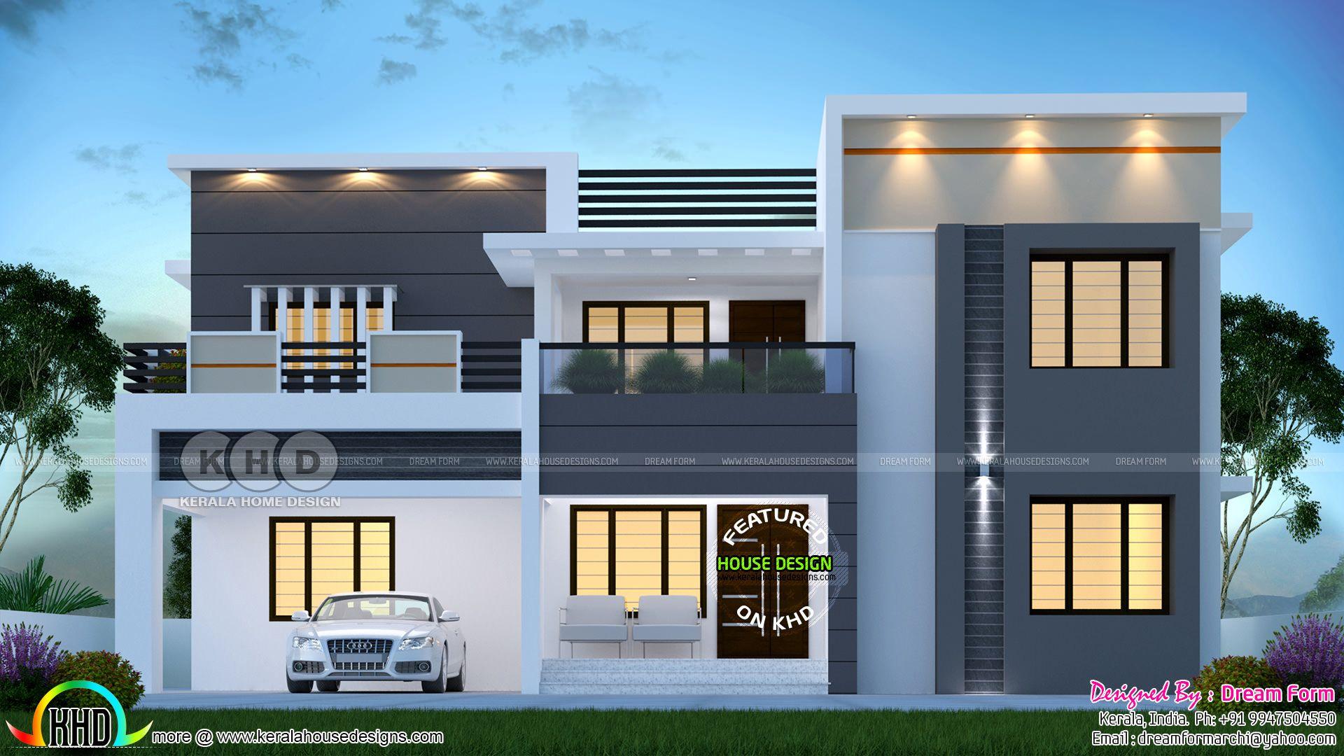 4 Bedroom 2977 Sq Ft Modern Home Design House Roof Design Kerala House Design Duplex House Design