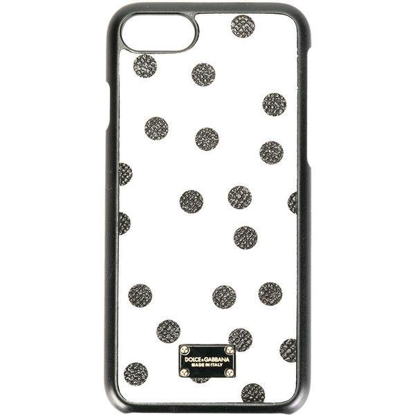 27e5dba51827 Dolce   Gabbana - polka dot print iPhone 7 case - women - Calf Leather.