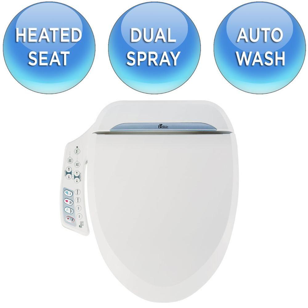 Biobidet Ultimate Series Electric Bidet Seat For Elongated Toilets In White Bb 600 With Images Bidet Seat Biobidet Bidet