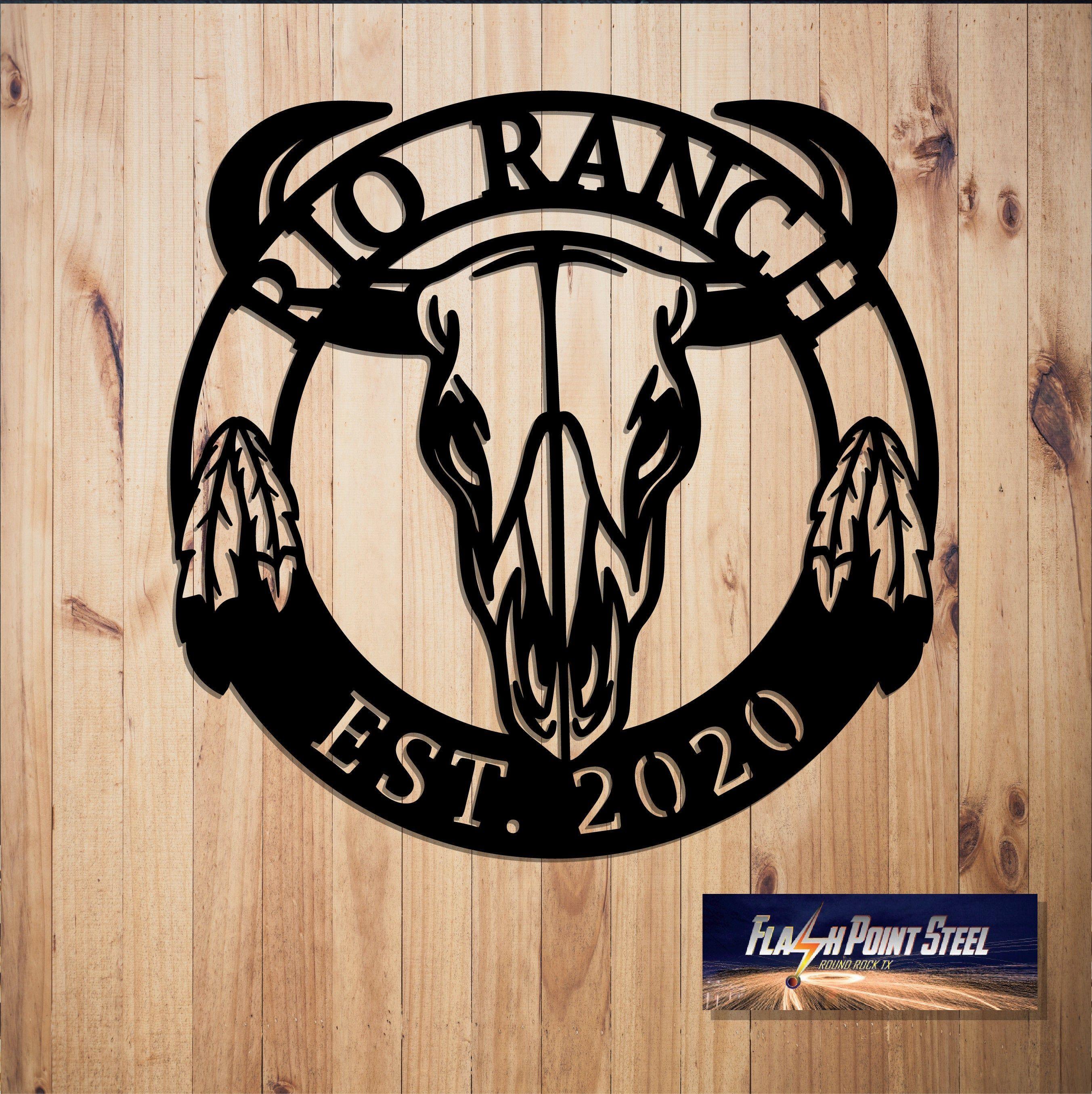 Bull skull sign, Skull bull, Ethnic, feather, cow, home decor, skull antlers, southwestern decor, entrance sign, longhorns sign, west sign