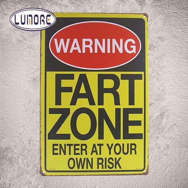 Warning F-Bombs Dropping Tin Metal Sign Funny Humor Office Dorm Man ...