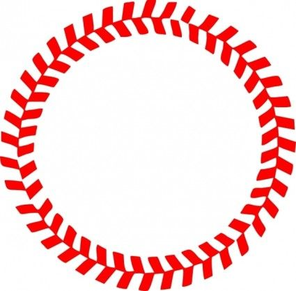 Baseball Stitches in a Circle Vector   My Style   Pinterest