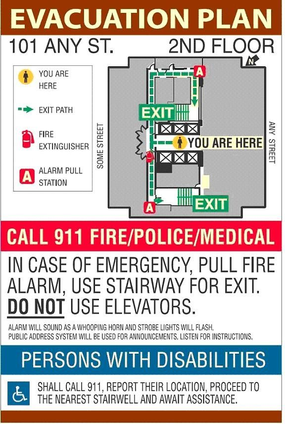 Create a fire evacuation plan for your apartment building From - evacuation plan template
