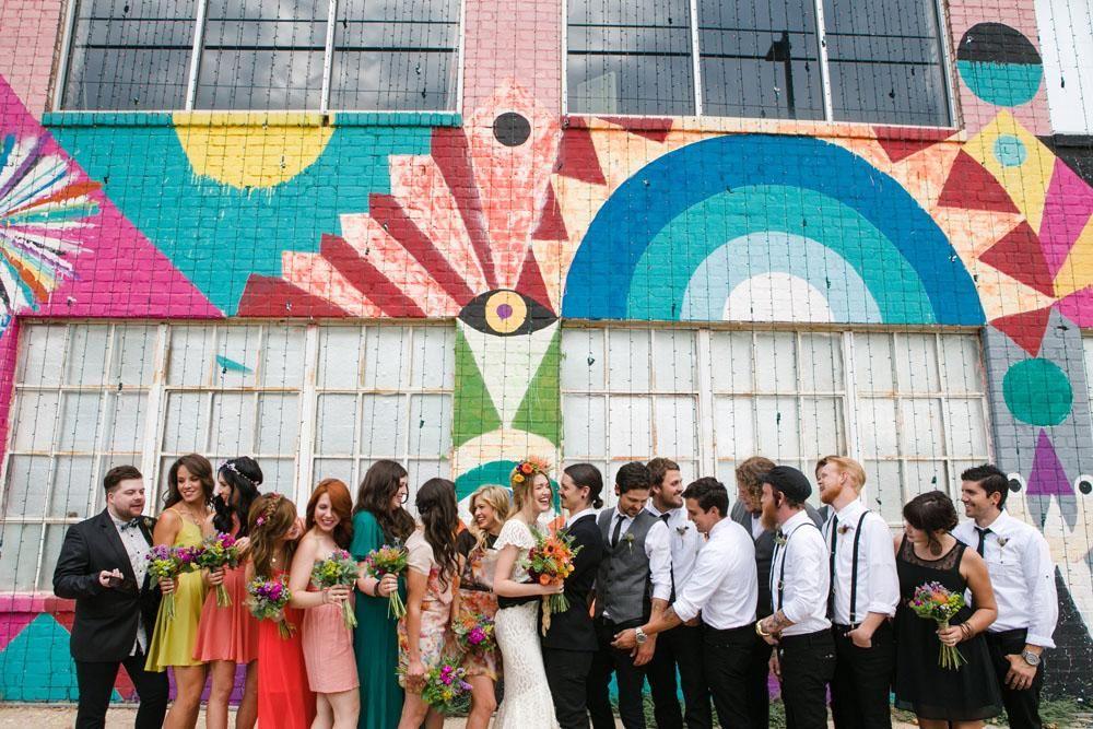 inspiration | flaming lips art gallery wedding | via: rock n roll bride