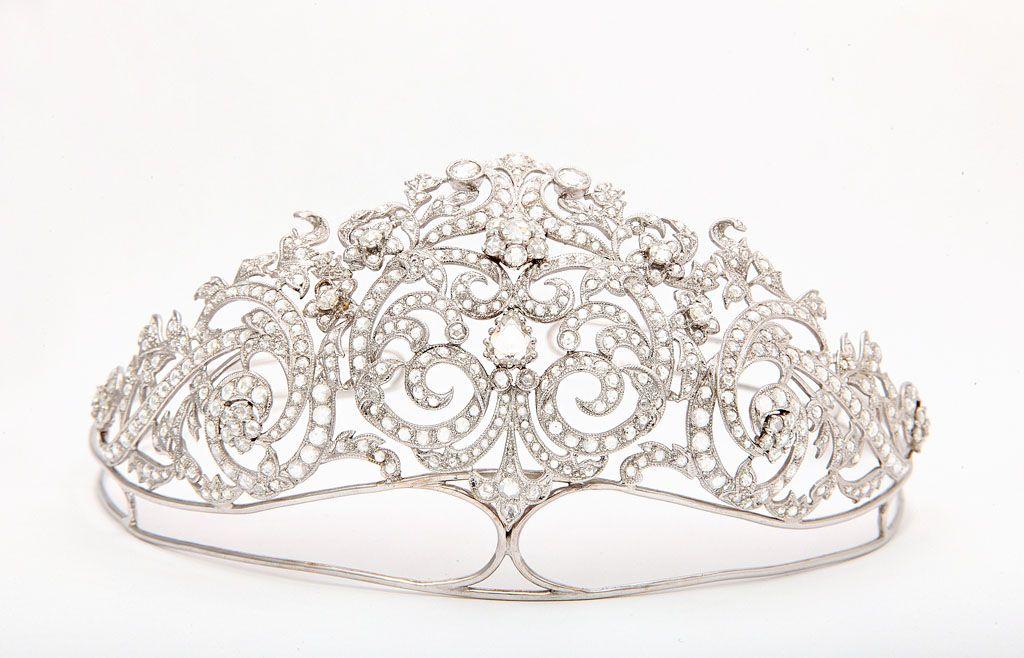 A modern diamond tiara