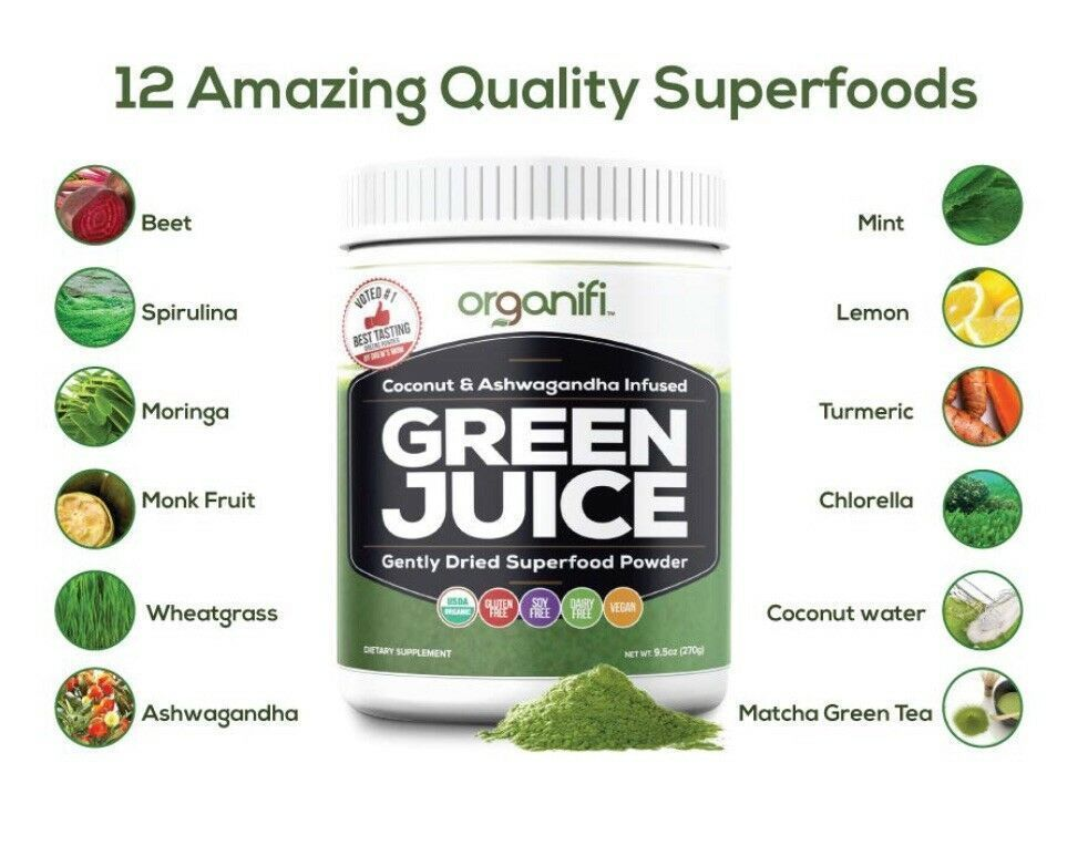 Organifi - Organic Green Juice Superfood Powder - 9.5 oz. Sealed #organifi #greenjuice #superfood #p...