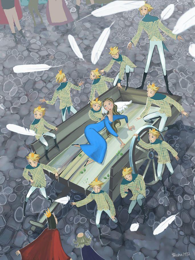 the wild swans by teresa mtz Fantasy/Mythology Fairytale art