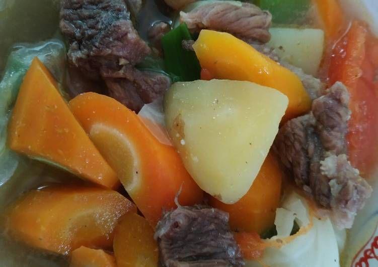 Sop Tetelan Sapi Pot Roast Makanan Resep Iga