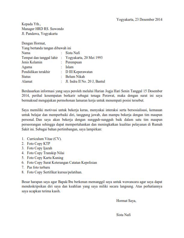 23 Contoh Surat Lamaran Kerja Terbaru yang Baik dan Benar