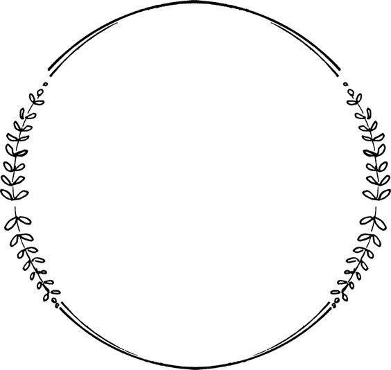 Pin By Coleen Ede On Black Wreath Clip Art Circle Frames