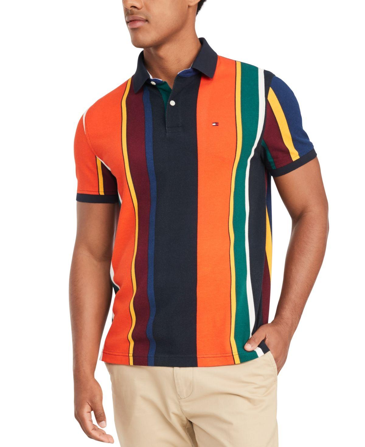 Tommy Hilfiger Men's Junior Stripe Big & Tall Polo Shirt