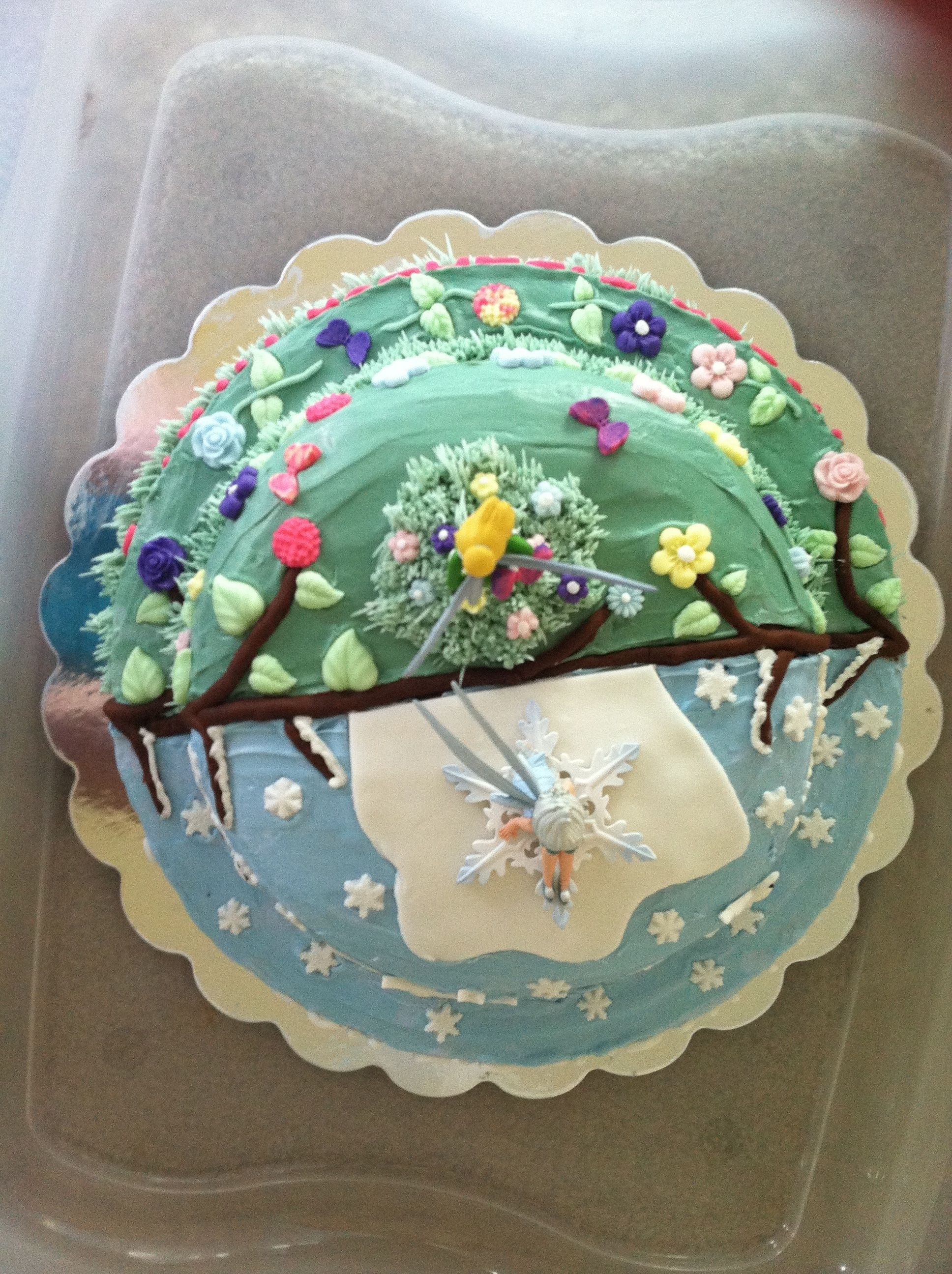 Tinkerbell And Periwinkle Cake Decorating In 2019