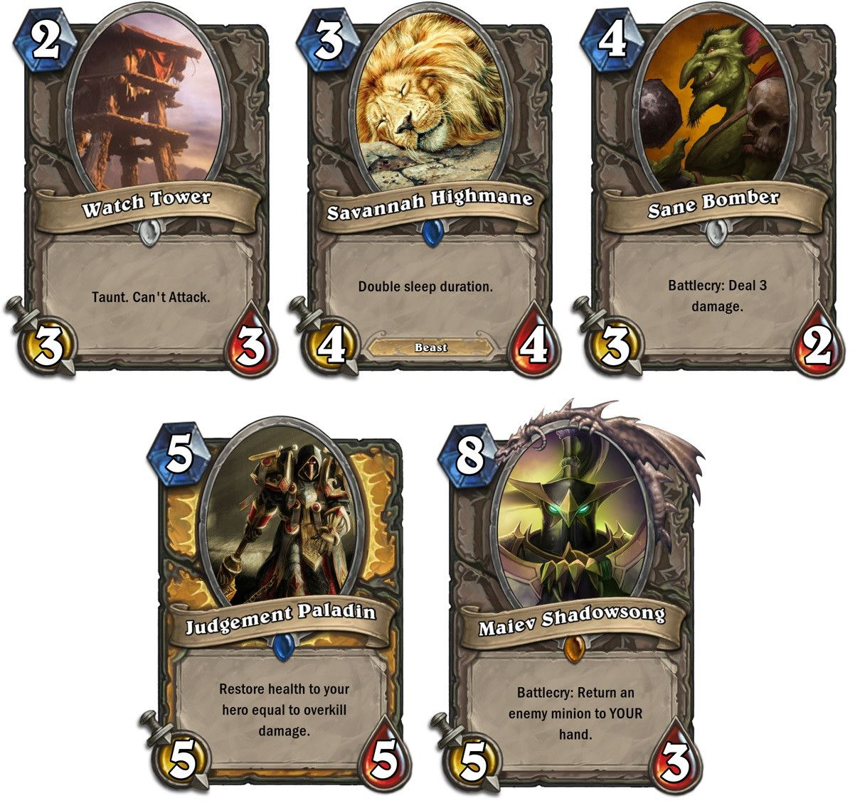 Hearthstone rarity frame reference