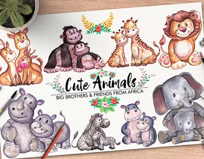 """Check out new work on my @Behance portfolio: """"Cute Animals"""" http://be.net/gallery/51753259/Cute-Animals"""