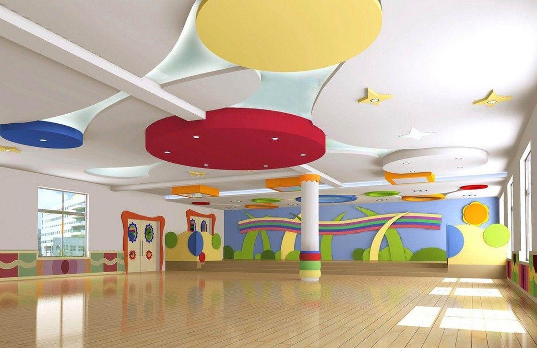 Kindergarten interior design image in 3d - Kindergarten Reception Room Design Render Download 3d House