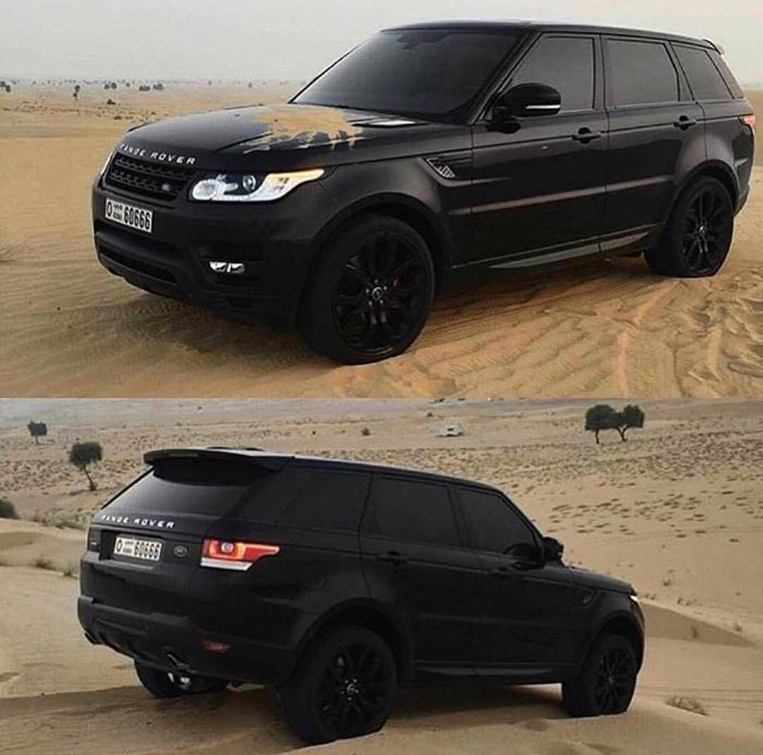 Black matte range rover would you ride this beast? • Follow @richlivings for more By Unknown