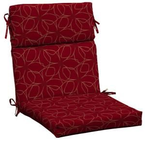 Hampton Bay Chili Stitch Floral Outdoor Dining Chair Cushion Discontinued Jc20062b 9d1 The Home Depot Dining Chair Cushions Outdoor Dining Chair Cushions Durable Outdoor Fabric