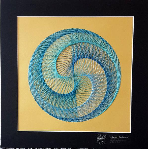 Fadengrafik wandbild deko 30x30cm blau t rkis - Wandbilder bei ikea ...