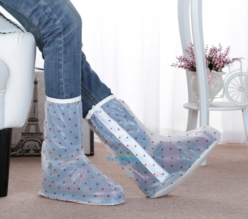 SY-R313 Stylish Polka-dot Reusable PVC Best Waterproof Rain Boots