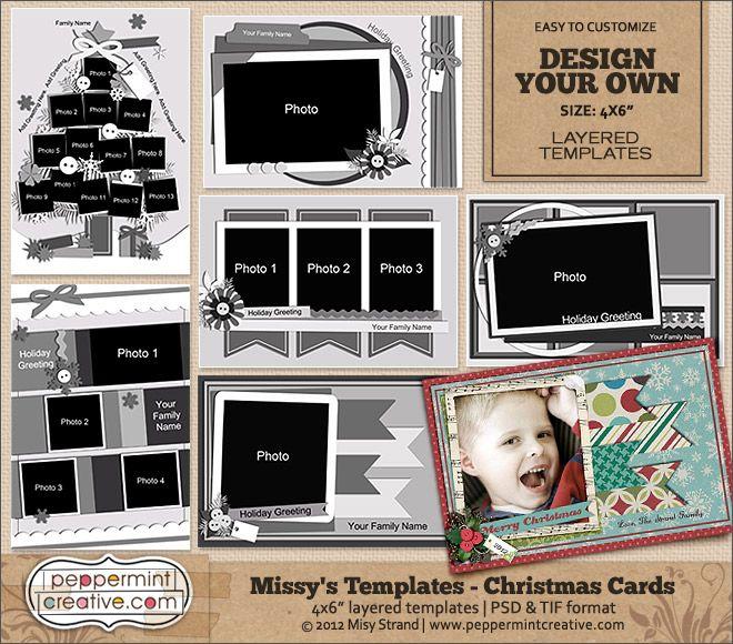 Missy S Christmas Card Templates 4x6 Christmas Card Template Christmas Cards Cards