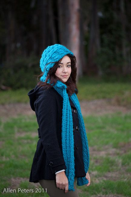 Amazing Free Pattern Crochet Hooded Scarf Composition - Easy Scarf ...