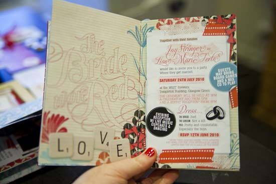 this is the coolestmost amazingly awesome time consuming idea for wedding invites - Book Wedding Invitations