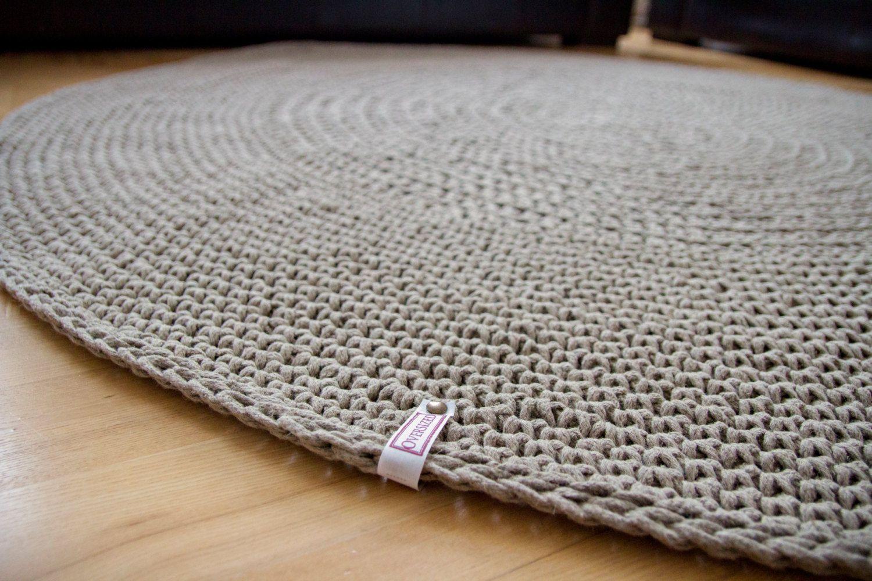Organic Rug Linen Cord Crochet Raw Carpet Floor Mat Doily