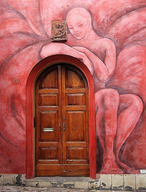 Very unusual door.