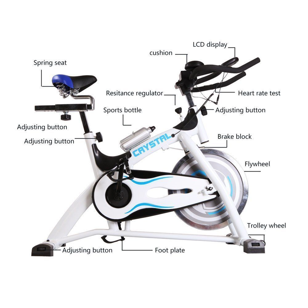 Indoor exercise bike cycling trainer with lcd monitor and