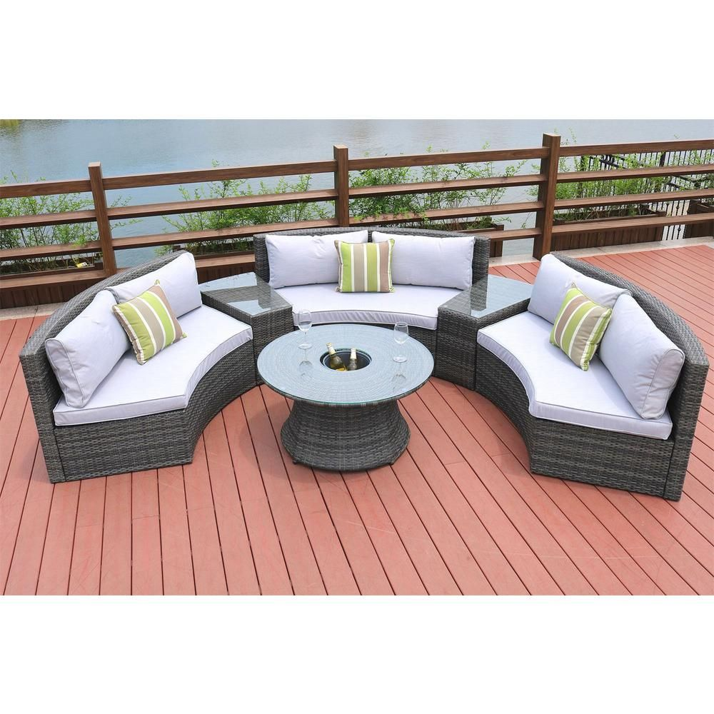 Prime Direct Wicker 6 Piece Half Moon Grey Wicker Outdoor Cjindustries Chair Design For Home Cjindustriesco