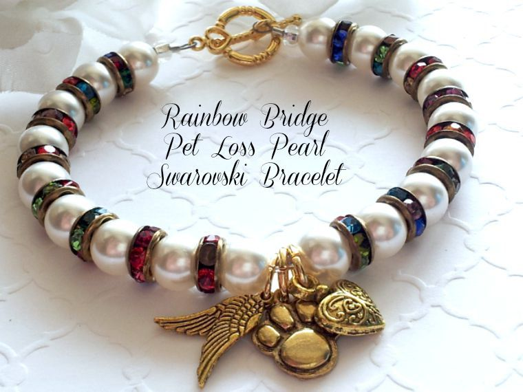 Rainbow Bridge Bracelet, Pet Loss Gifts, Symbolic Dog, Cat ...