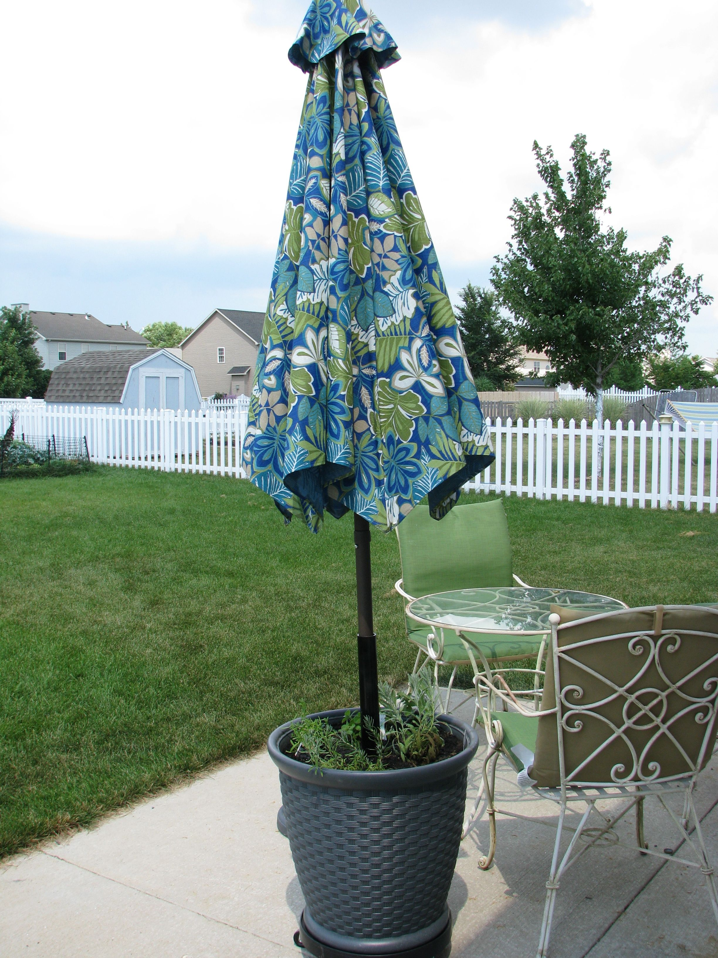 "DIY HEAVY DUTY patio umbrella ""stand"" Needed a heavy duty patio"
