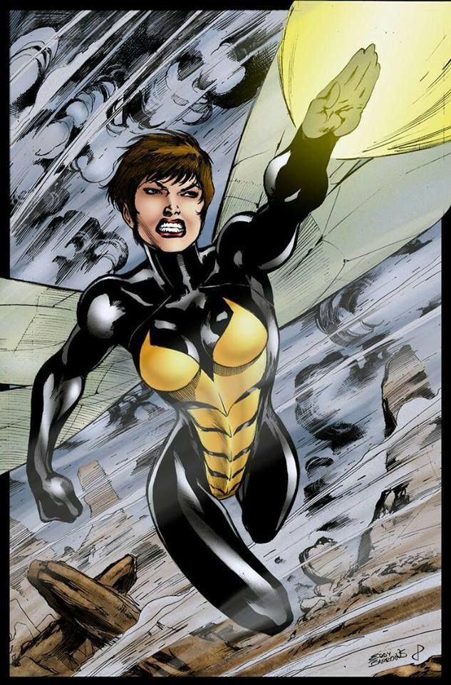 The Wasp Art By Eddy Barrows Marvel Heroines Marvel Girls Wasp