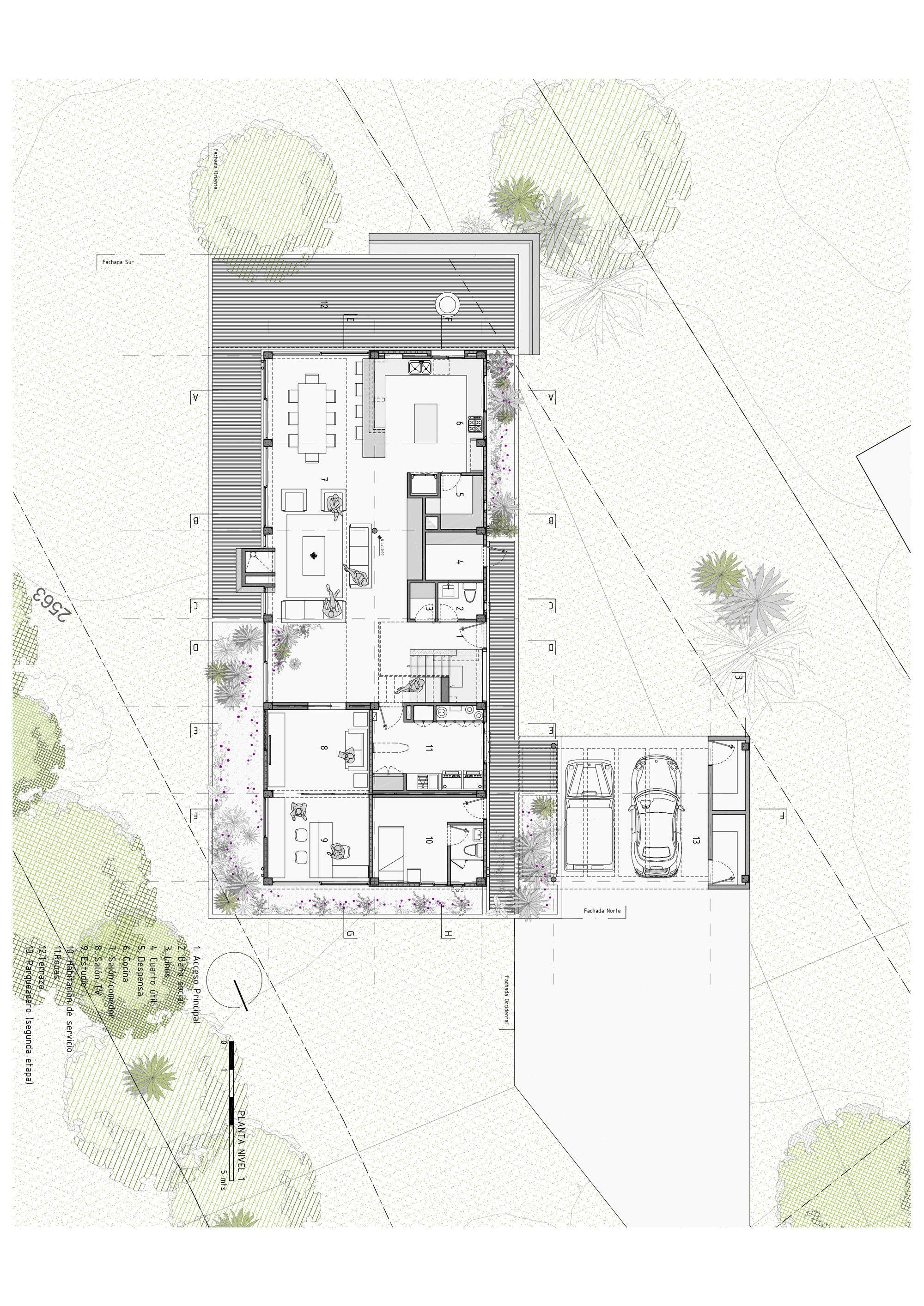 Gallery Of Bo House Plan B Arquitectos 21 Architectural Floor Plans Layout Architecture Architecture Plan