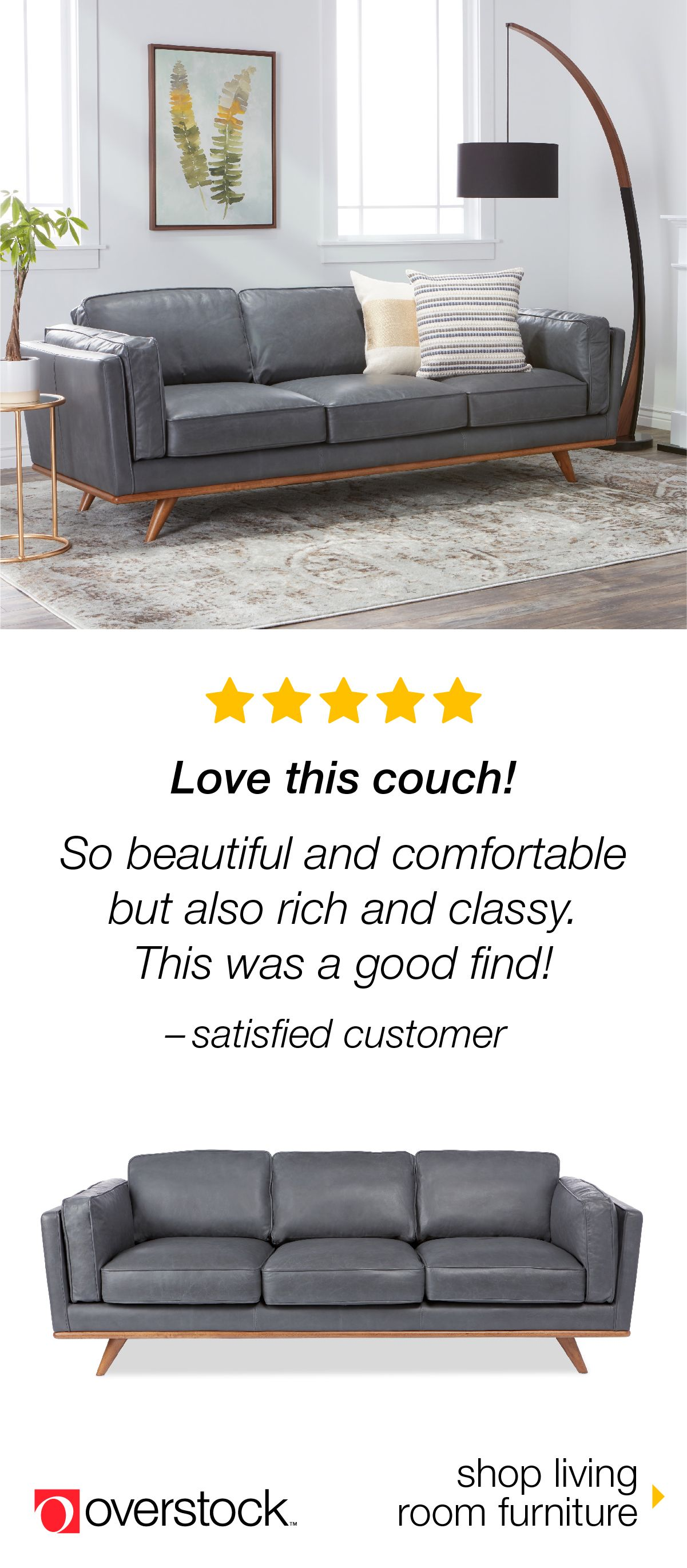 Find the perfect sofa for your space at overstock shop our