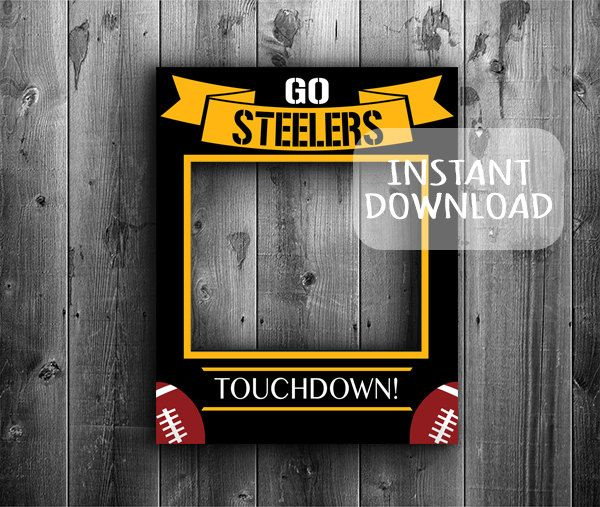 Giant Photobooth Pittsburgh Steelers Instant Download 20